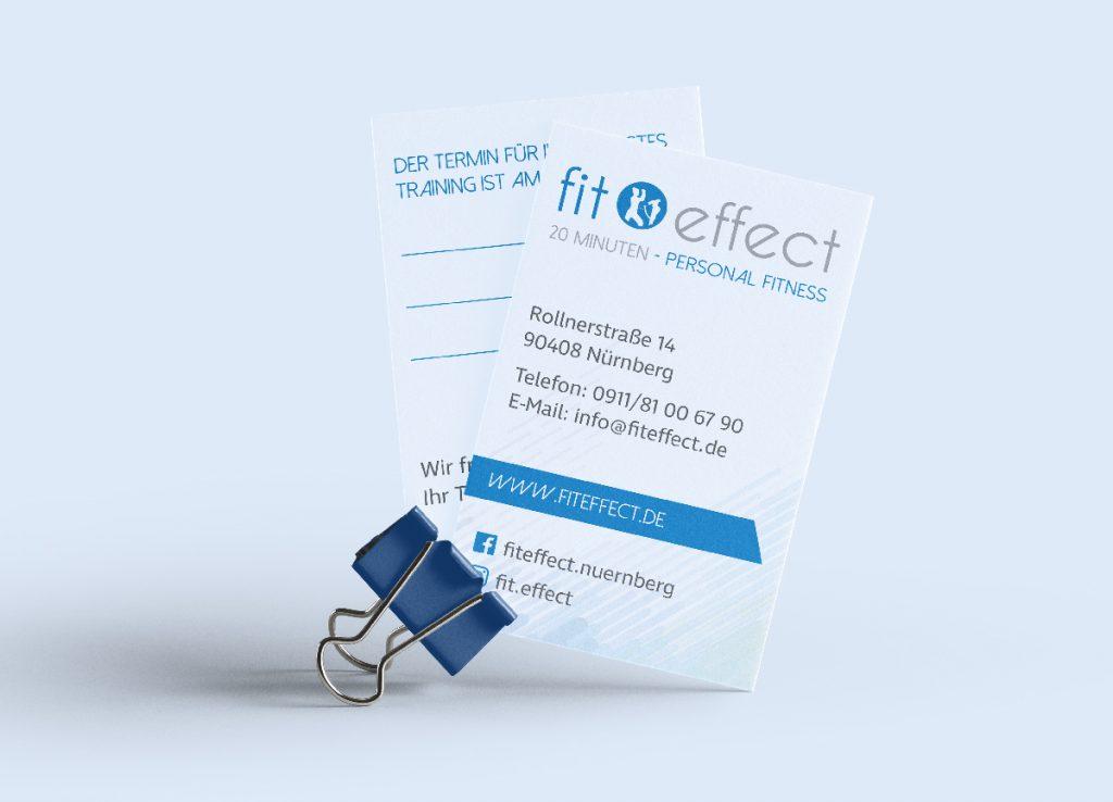 fit effect Visitenkarten
